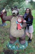 Садовая фигурка «Маша и медведь»