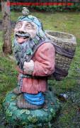 Садовая скульптура «Дед Лесовик (Цветник)»