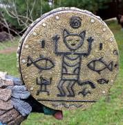 Фигура для сада «Кот-шаман»