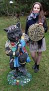 Садовая фигурка «Кот-шаман»