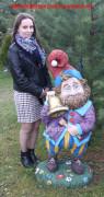 Садовая фигурка «Гном с колокольчиком»