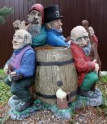 Садовая скульптура «Кресло-музыканты»