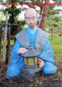 Садовая скульптура «Японец с фонарем»