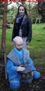 Садовая фигурка «Японец с фонарем»