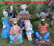 Садовая фигурка «Баран с гармошкой»