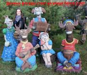 Садовая фигурка «Коза-дереза»