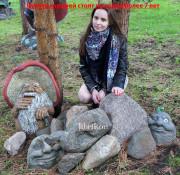 Садовая скульптура «Камень с лягушкой»