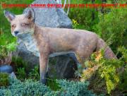 Садовая скульптура «Лисица»