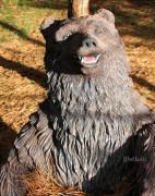 Фигура для дачи «Медведь с колодой»