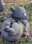 Садовая скульптура «Медведь лежит»