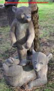 Фигура для сада «Медведь лежит»