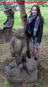 Садовая фигурка «Медвежата»