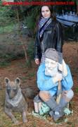 Садовая фигурка «Овчарка»