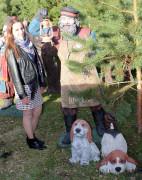 Садовая скульптура «Щенок сидит»