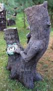 Садовая скульптура «Пень с гнездом (цветник)»