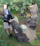 Садовая фигурка «Пень с гнездом (цветник)»
