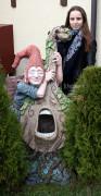 Садовая фигурка «Цветник «Эльф с альтом» (три кашпо)»
