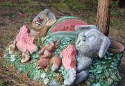 Садовая скульптура «С днём рождения (цветник)»