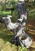 Садовая скульптура «Дерево (Цветник, 4 кашпо)»