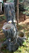 Фигура для сада «Дерево (Цветник, 4 кашпо)»