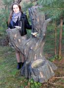 Садовая фигурка «Дерево (Цветник, 4 кашпо)»