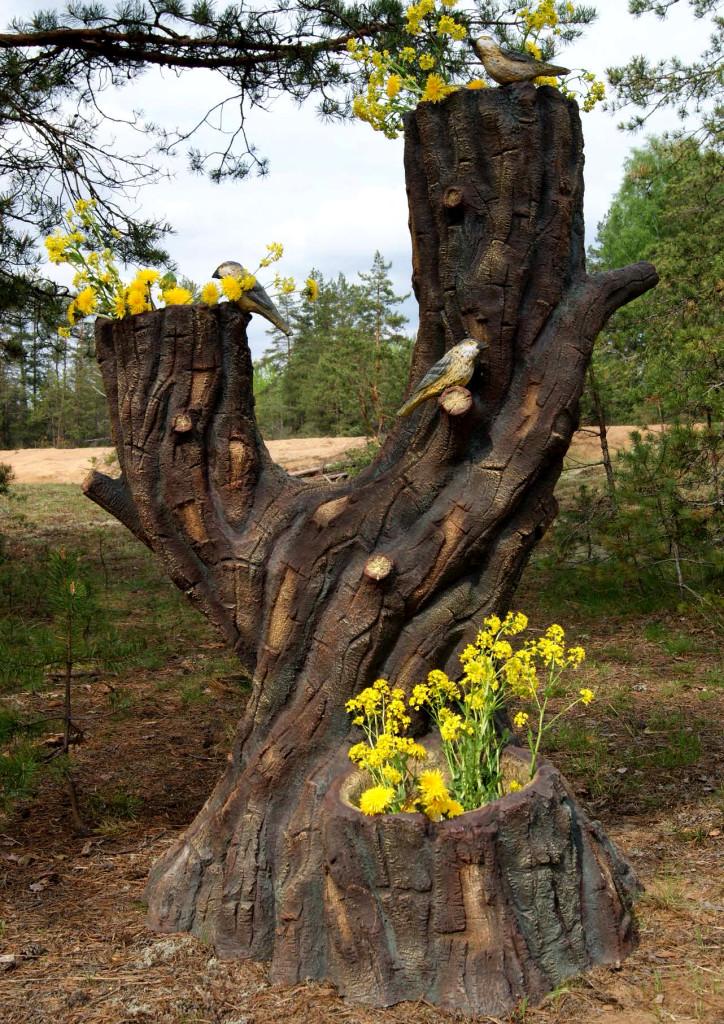 Деревянные фигурки для сада фото