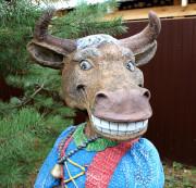 Фигура для сада «Корова (Цветник)»