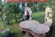 Садовая фигурка «Кресло-пень с совой»