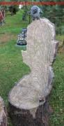 Скульптура для сада «Кресло-пень с вороном (большое)»