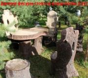Мебель для участка «Кресло-трон с совой (малое)»