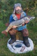 Садовая фигура «Рыбак на льду»