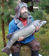 Фигура для сада «Рыбак на льду»