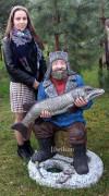 Садовая фигурка «Рыбак на льду»