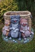 Садовая фигура «Коты»