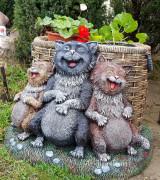 Садовая скульптура «Коты»