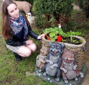 Садовая фигурка «Коты»